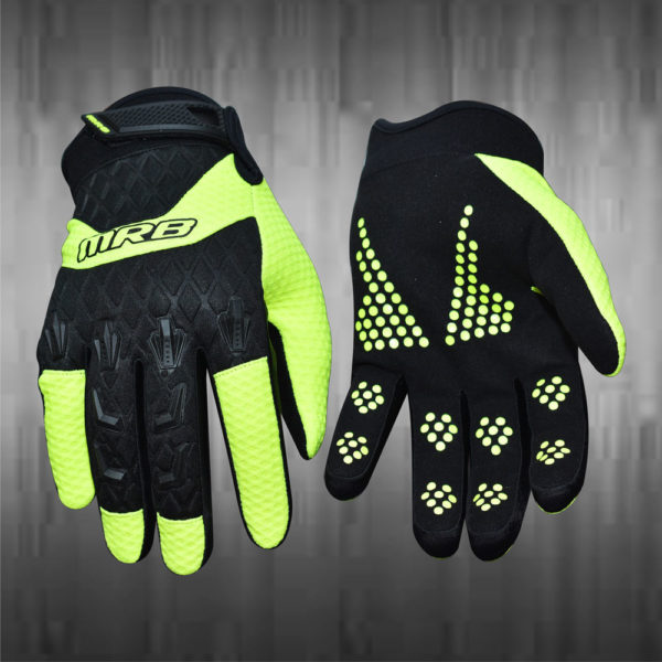 Light Green Motocross Gloves
