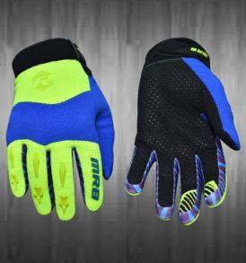 Lime Green / Blue Motocross Gloves