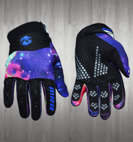 Blue / Grey Black Motocross Gloves