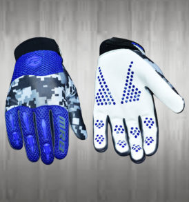 Dark Blue White Motocross Gloves