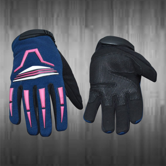 Navy Blue / Black Mechanic Gloves