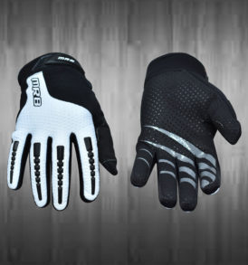 Black and White Motocross Gloves