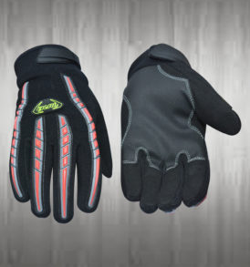Dark Grey / Black Mechanic Gloves