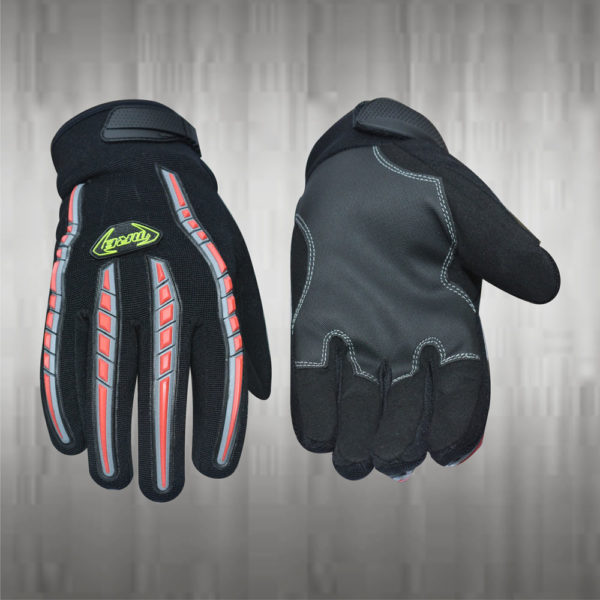 Dark Grey / Black Mechanic Gloves