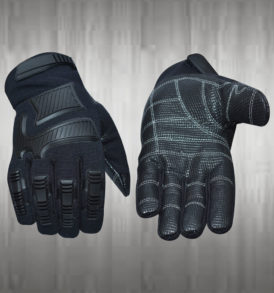 Bold Black Mechanic Gloves