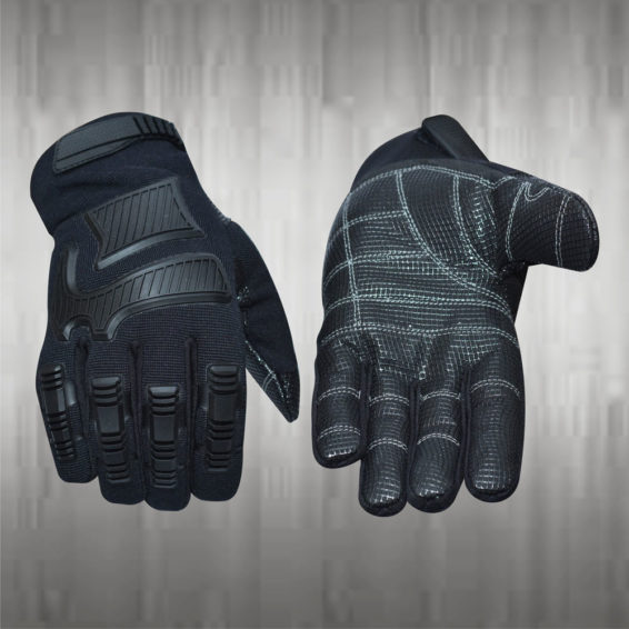 Bold Black Mechanic Gloves