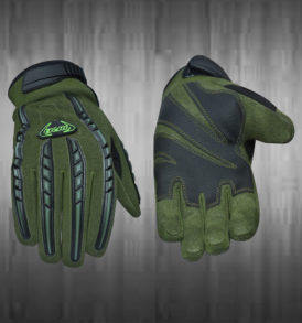 Dark Green Motocross Gloves