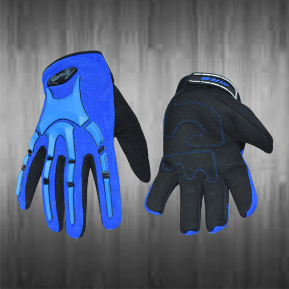 Royal Blue / Black Mechanic Gloves