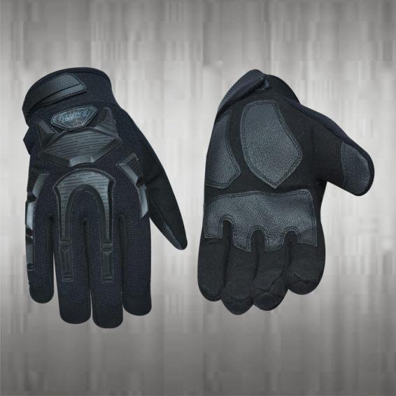 Dark Black Mechanic Gloves