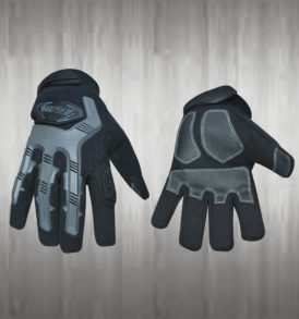 Grey Black Mechanic Gloves